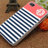 iphone 5 case iphone 5c case iphone 5s case iphone 4s case iphone 4 case Stripe monogram Phone Cases