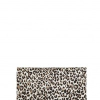 alice + olivia | ME CHEETAH PRINTED CALF HAIR CLUTCH