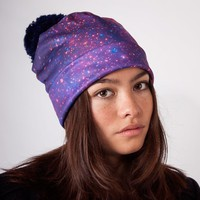 PURPLE NEBULA BEANIE HAT