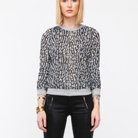 Leopard Burnout Jumper