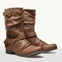 Ruched Biker Boots | Fashion Boots | rue21