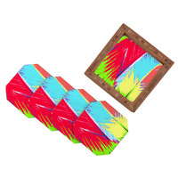 Rosie Brown Rainbow Palms Coaster Set