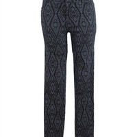 ETHNIC AZTEC PRINT STRETCH SKINNY COTTON PANTS PATTERN HIGH WAISTED JEANS at Miss Dandy | Miss Dandy