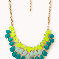 Vibrant Faux Gemstone Bib Necklace