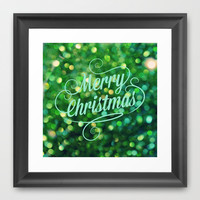 Merry Christmas Framed Art Print by RDelean
