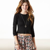 AE EFFORTLESSLY CHIC CROPPED T-SHIRT