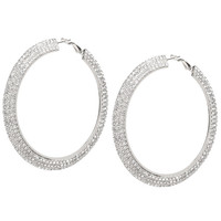 ShoeDazzle What a Glitz Hoop Earrings