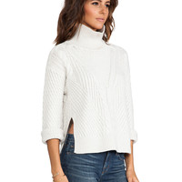 DUFFY Technical Oversized Sweater in Cloud