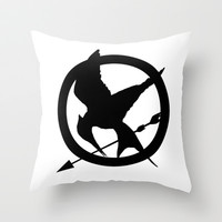 The MockingJay  Throw Pillow by Lauren Lee Designs