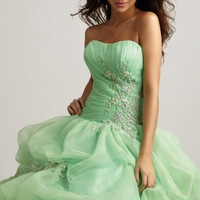 Beaded Tulle Gown by Allure Quinceanera