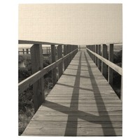 Beach Walk in Sepia Puzzle