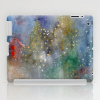 christmas lights iPad Case by rysunki-malunki