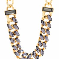 All-In-Almond-Jeweled-Necklace GOLDNAVY - GoJane.com