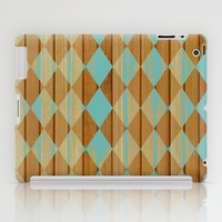 Wooden Mint  iPad Case by Louise Machado