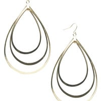 Tiered Teardrop Outline Earring | Wet Seal