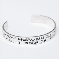 """I SAW HEAVEN"" BANGLE"