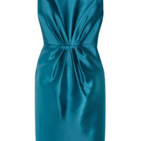 Badgley Mischka Gathered satin dress – 50% at THE OUTNET.COM