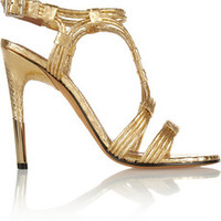 Givenchy Metallic python sandals – 59% at THE OUTNET.COM