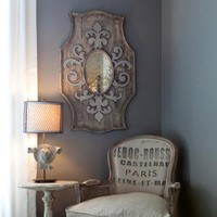 Aidan Gray Decor Wooden Mirror Fleur de Lis