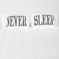 The Rise And Fall Never Sleep Pillowcase - Set Of 2 - Urban Outfitters