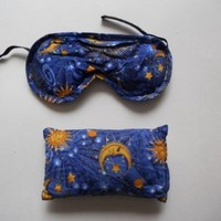 Nature's Approach All Natural Herbal Therapy Lavender Eye Pillow + Peppermint Aromatherapy Pack