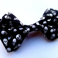 Psychobilly Small Skull Hair Bow