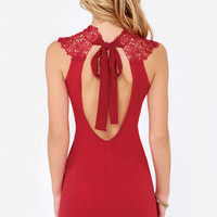 Renaissance Court Lace Red Dress