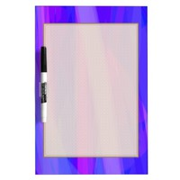 Abstract Ribbons of Blue and Violet Dry Erase Board