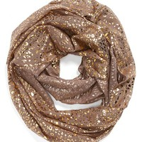 Capelli of New York Metallic Cheetah Print Infinity Scarf (Juniors) | Nordstrom
