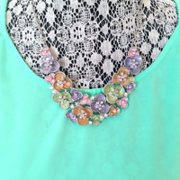 NWOT! New York & Company Floral Bib Necklace