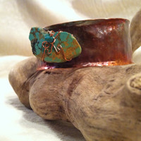 American Turquoise and Copper Bracelet