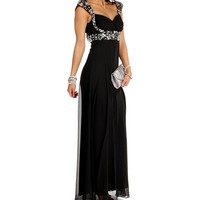 Paulina-Black Homecoming Dress