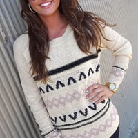 Mauve + Navy Knit