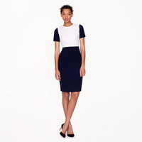 SEAMED CREPE DRESS IN COLORBLOCK