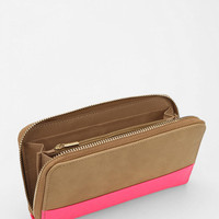 Cooperative Colorblock Zip-Around Wallet - Urban Outfitters
