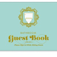 Bathroom Guest Book - Adds A Fun & Unique Twist to any Bathroom Visit