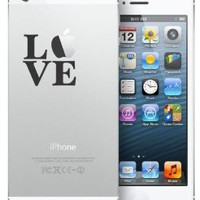 LOVE cute BLACK vinyl Decal Sticker for Apple iPhone 5, samsung galaxy 4, 3, samsung note 2, android, and more!