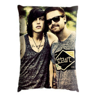 Kellin Quinn And Austin Carlile. Pillow Case Cover Custom Design. Select the option for size