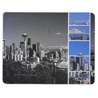 Downtown Seattle Blue Grey Collage Journal