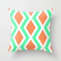 Delighted IX Throw Pillow by Rebecca Allen