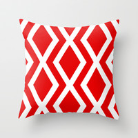Delighted XI Throw Pillow by Rebecca Allen