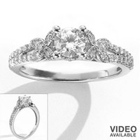 Simply Vera Vera Wang Round-Cut Diamond Butterfly Engagement Ring in 14k White Gold (3/4 ct. T.W.)
