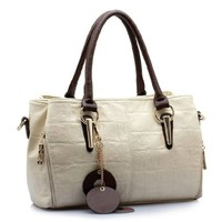 Fashion Vintage Classic Pendant Top Check Elegant Crossbody Handbag