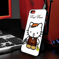 Daryl Dixon The Kittys Combat for iphone 4/4s case, iphone 5/5s/5c case, samsung s3 i9300 case, samsung s4 i9500 case cover in vellos