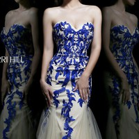Strapless Sweetheart Gown by Sherri Hill