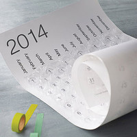 2014 Bubble Wrap Calendar