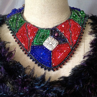 ON SALE Bead Embroidered Collar- Kaleidoscope for EBEG