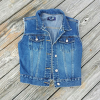 Women's Denim Vest - Jean Vest - An All Season Essential - Size Small