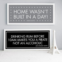 Personalised Motto Print