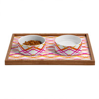 Heather Dutton Intersection Bright Pet Bowl and Tray